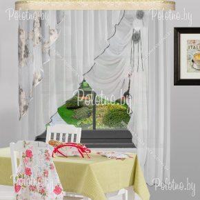 Готовые шторы для кухни Француженка серый