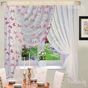 Готовые шторы для кухни Виктория бабочка