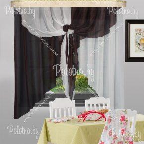Готовые кухонные шторы Жар-птица цвета венге