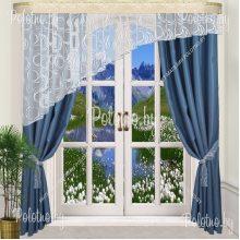 Комплект штор Альфа — 2.5 синий лево/право