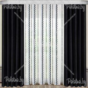 Комплект готовых штор Анастасия — 2.5 черный