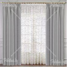 Комплект штор Анастасия — 2.5 серый