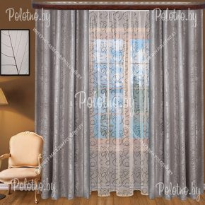 Комплект готовых штор Анастасия — 2.5 серый
