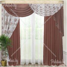 Комплект готовых штор Камелия — 2.5 коричневый