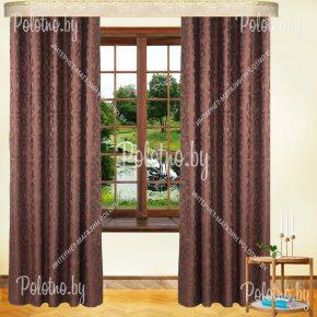 Комплект готовых штор в спальню и гостиную коричневые