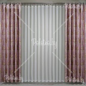 Комплект готовых штор в спальню и гостиную Виконт — 2.6 бледно лиловый