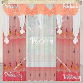 Комплект готовых штор в спальню и гостиную Аленка — 2.5