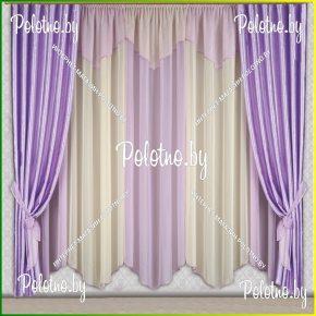 Готовые шторы в спальню и гостиную сиреневого цвета