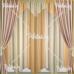 Комплект готовых штор в спальню и гостиную Дорис — 2.5 капучино