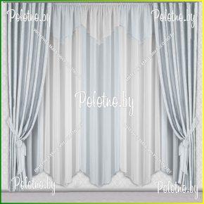 Комплект готовых штор в спальню и гостиную Дорис — 2.5 серый металлик