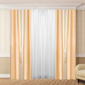 Готовые шторы Дуэт на шторной ленте без тюля