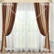 Комплект штор Дуэт — 2.5 карамельно-коричневый