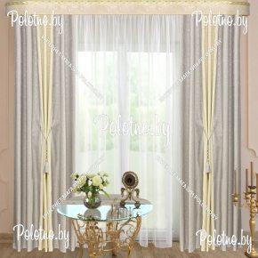 Комплект готовых штор в спальню и гостиную Дуэт — 2.5 серый