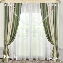 Комплект штор Дуэт — 2.5 бледно-зеленый