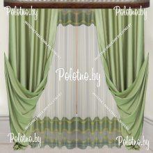 Комплект штор Эмили — 2.5 оливковый