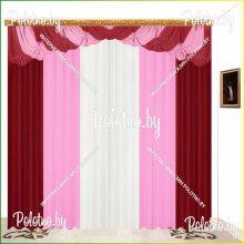 Комплект штор Фелиция — 2.5 вишневая