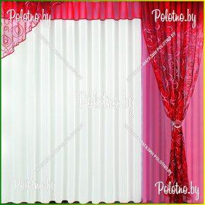 Комплект готовых штор Флер — 2.5 бордо