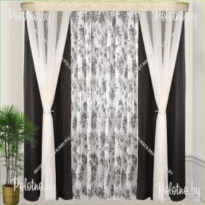 Комплект готовых штор в спальню и гостиную Фреш — 2.5