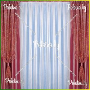 Готовый комплект спальных штор кармен
