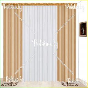 Комплект готовых штор в спальню и гостиную Катрина капучино — 2.5