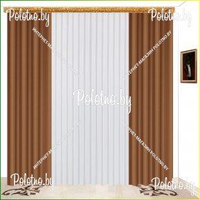 Комплект готовых штор в спальню и гостиную Катрина кофе — 2.5