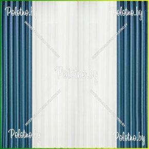 Комплект готовых штор в спальню и гостиную Катрина синий — 2.5