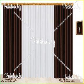 Комплект готовых штор в спальню и гостиную Катрина венге — 2.5