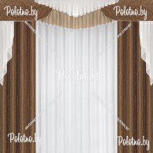 Комплект штор Лион — 2.5 шоколад