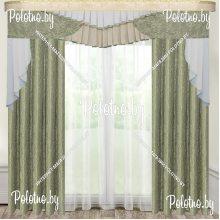 Комплект штор Лион — 2.5 бледно-зеленый