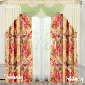 Комплект готовых штор в спальню и гостиную пастель — 2.5
