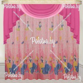 Готовый комплект штор для детской комнаты Принцессы