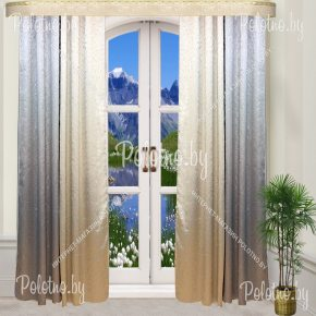 Комплект готовых портьер в спальню и гостиную Грация— 2.5 серый