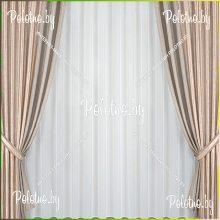 Комплект портьер Стефани — 2.5 капучино
