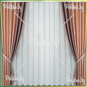 Готовые шторы шоколадного цвета на высоту потолка 2.50 арт. 4_198Ж