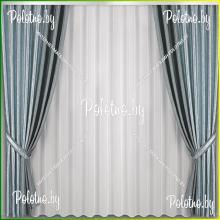Комплект портьер Стефани — 2.5 серый металлик