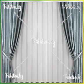 Комплект готовых штор в спальню и гостиную Стефани — 2.5 серый металлик