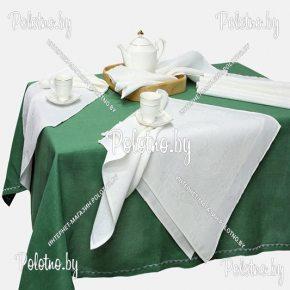 Льняной столовый набор скатерть и салфетки Дуэт