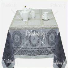 Скатерть Посуда лен 150х250