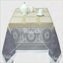 Скатерть Посуда лен 150х200