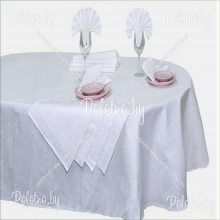 Комплект столовый Завитки лен 144х250