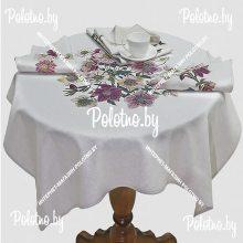 Комплект столовый чайный Анемоны лен 107х107