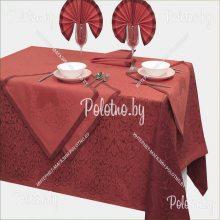 Комплект столовый Фаворит лен 170х245 красный