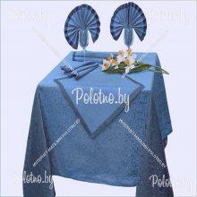 Комплект столовый Фаворит лен 170х245 синий