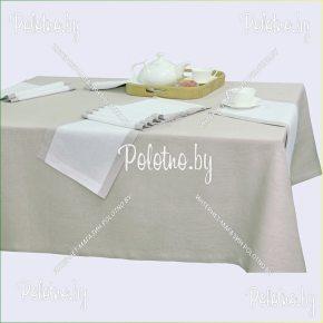Льняная сервировочная скатерть и салфетки 140х200