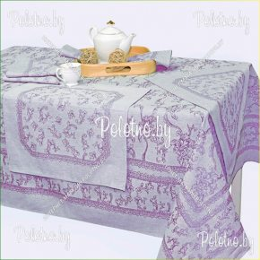 Льняной комплект столовый Луиза с салфетками арт. 16с414