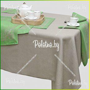 Льняная сервировочная скатерть и салфетки Полонез на 12  персон