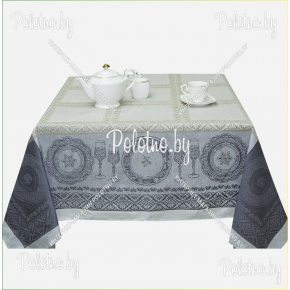 Столовая скатерть изо льна Посуда арт.16с383