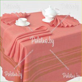 Льняная сервировочная скатерть и салфетки Радуга на 6 персон арт.15с367