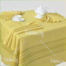 Столовый льняной набор Радуга 150х250 жёлтый