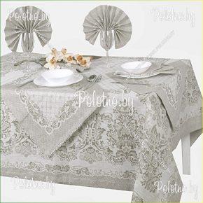 Льняной столовый комплект Релакс на 6 персон серого цвета арт. 17с373